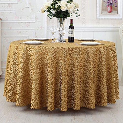 Nappes Nappe ronde, tissu d'hôtel Nappe de restaurant simple Nappe ronde de salon ( Couleur : Or , taille : Round-300cm )