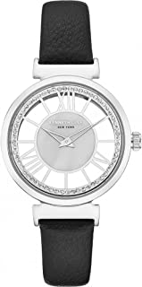 Kenneth Cole Women's Mother of Pearl Dial Leather Band Watch - KC50189002