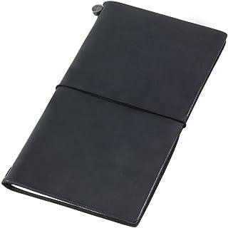 Midori Traveler'S Notebook Black Leather