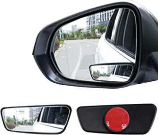 Livtee Framed Rectangular Blind Spot Mirror, HD Glass and ABS Housing Convex Wide Angle Rearview Mirror with Adjustable St...