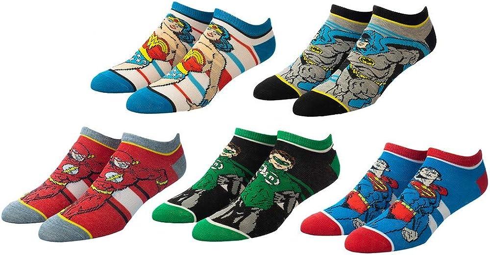 Justice League 5 Pair Ankle Socks