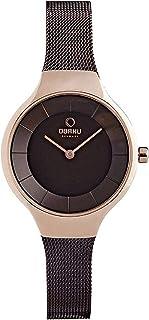 ساعة كاجوال للنساء من اوباكو انالوج كوارتز وستانلس ستيل - V166Lxvnmn