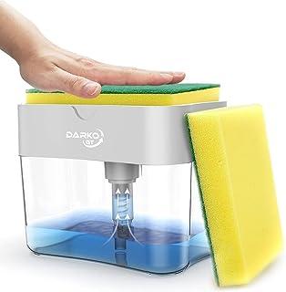 Sponge Holder for Kitchen with Soap Dispenser 2 in 1, Premium Sponge Holder for Kitchen Sink, Quality Dishwashing Dispense...