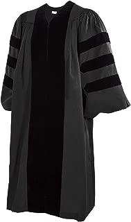 Ultra Premium Deluxe Fluted Black Clergy Robe/Pastor Robe