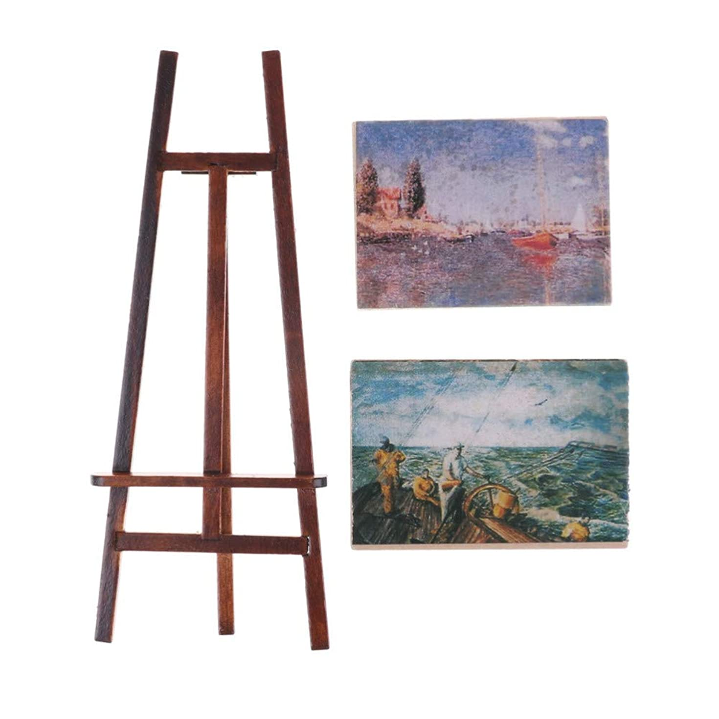 損失濃度発表WANGSENO 1セットアーティストイーゼルと2木製絵画写真ミニアーティストイーゼル木製結婚式テーブルカードブラケットディスプレイスタンド装飾