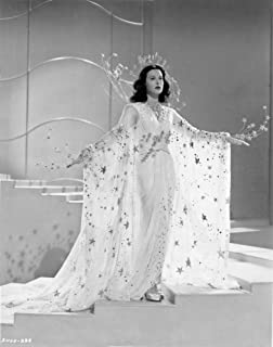 Hedy Lamarr wearing a crown and a star patterned dress Photo Print (8 x 10)