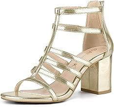 Allegra K Women's Strappy Chunky Gladiator Heel Sandals