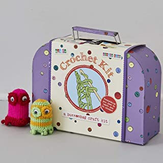 Buttonbag Learn To Crochet Suitcase Kit