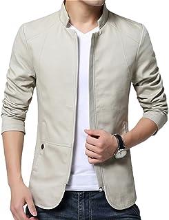 b8c342c5d3 LeeHaru Homme Veste Blazer Vestons Slim Fit Costume Jacket Blouson Casual