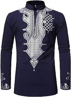 Impresiones Tradicionales africanas Vestido Dashiki Camisa de Manga 3//4 Tops Ropa Africana auspicio