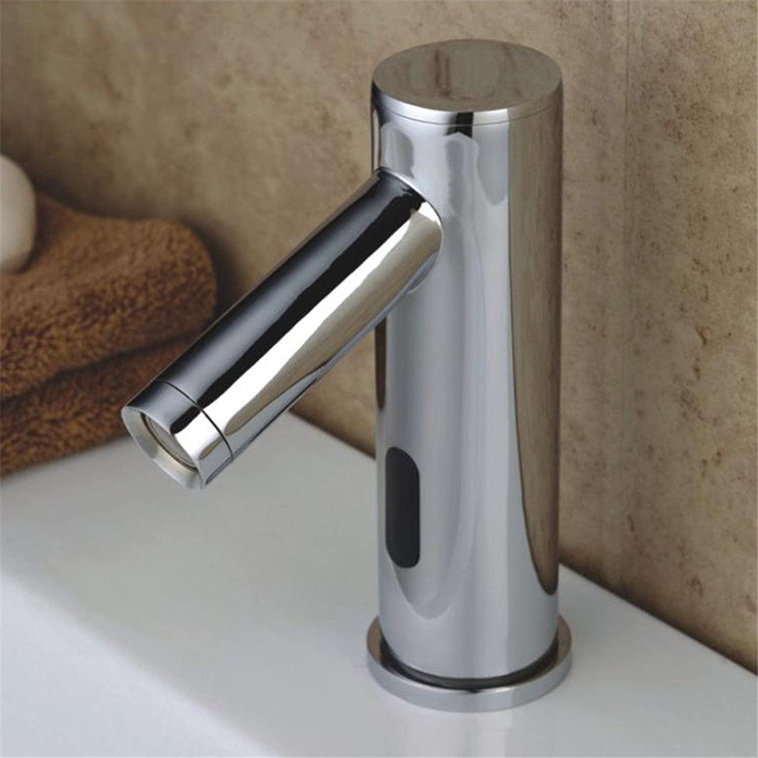 Modern silver brass????sensor solenoid valve hands-free one hole???intelligent induction single cold bathroom basin faucet   Bathroom Sink Taps   Basin Mixer Tap  Bathroom Tap  Bathroom Mixer  Bathroom Basin Mixer Tap   Sink Taps