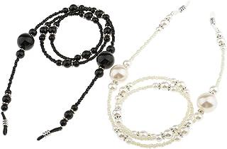 MagiDeal Kette mit Gummigriffe Brille Sonnenbrille Bunt Perle Kette Inhaber Halskette