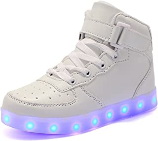 High Top Led Light Up Shoes Flashing Sneakers for Girls Boys for Christmas