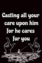 Casting all your care upon him for he cares for you: Bible Verse Cover Notebook Journal For Christians