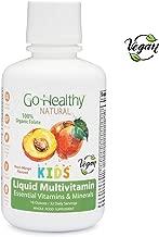 Go Healthy Natural Kids Vegan Liquid Multivitamin with Organic Folate - 32 Servings