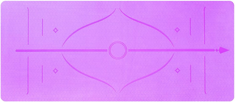 LiuJianQin YJD Yoga-Matte Rutschfeste Sport-Matten Plus dick Plus breite Yoga-Matte Tanz-übungs-Auflage   183  80CM (Farbe   Lila, gre   Thickness6MM)