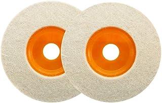 Haobase 2 unidades de 4 pies 100 mm pulidor de lana ángulo amoladora rueda fieltro disco de pulido