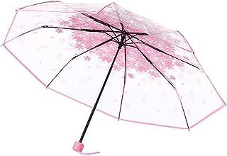 Cimaybeauty Rainy day Transparent Clear and Cherry Blossom Mushroom Sakura Umbrella