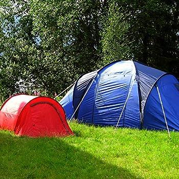 com-four® 50x piquets de Tente en Acier - idéaux pour Les terrains normaux et Difficiles - Piquet de Camping - piquets