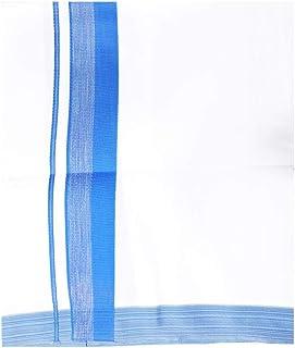 MCR Men's Pure Cotton Double Dhoti(154_White With Colour Border_4m)