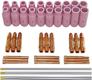 LAQI Antorcha TIG Parte accesoria TIG Cap Kit Volver Pieza de Repuesto para WP-17//18//26 Soplete 3 Piezas