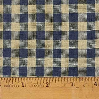 Heritage Navy Blue 5 Mini Buffalo Homespun Cotton Plaid Fabric by JCS - Sold by The Yard