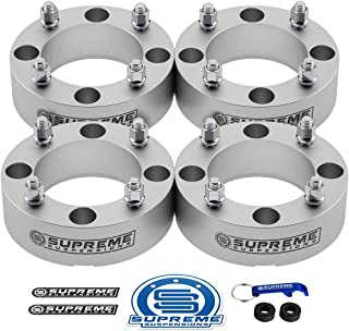 Supreme Suspensions - 4pc Set of 2 Wheel Spacers for CAN-AM Maverick, DS450 & Commander 800 + 1000 | 4x137mm Bolt Pattern M10x1.25 Studs & 110mm Center Bore ATV Wheel Spacer [Silver]