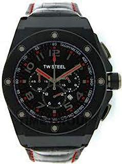 تي دبليو ستيل ساعة للرجال انالوج بعقارب ، جلد ، CE4009