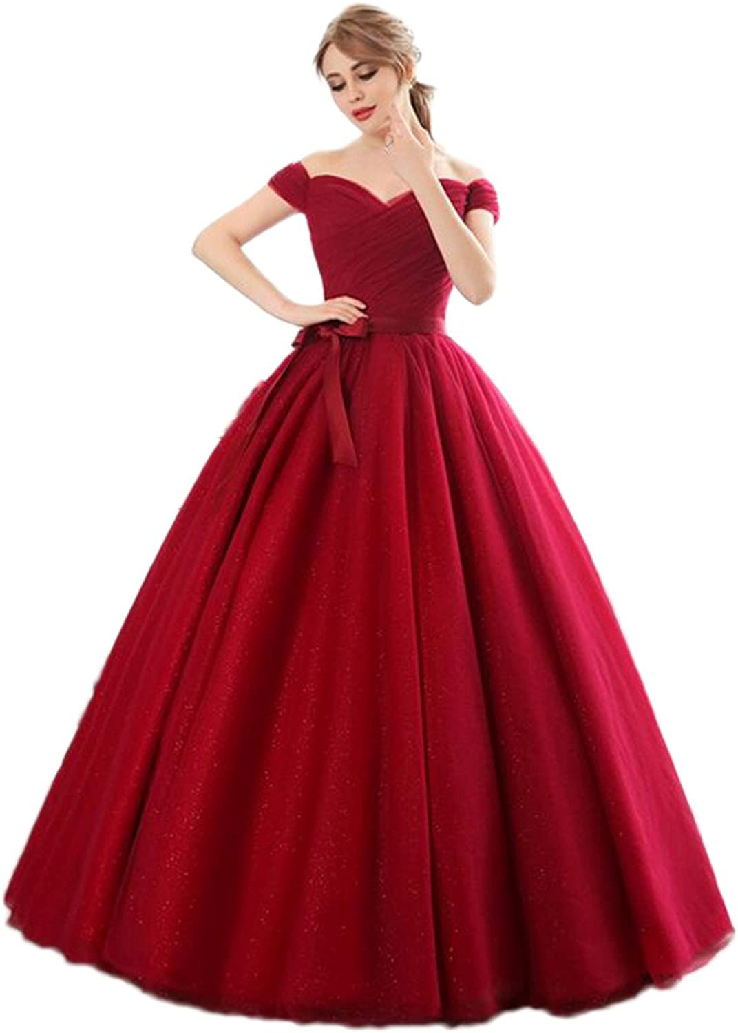 Kaitaijidian Women's Red Ball Gown FloorLength Quinceanera Dresses
