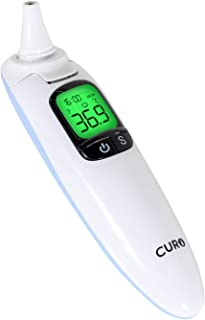Thermometer CURO T3 Thermometer for Fever Digital Medical Infrared Forehead and Ear Thermometer for Baby,Kids and Adults with Fever Indicator FDA & CE Approved