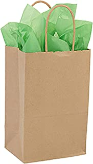 SSWBasics Kraft Paper Bags with Handles - Case of 100