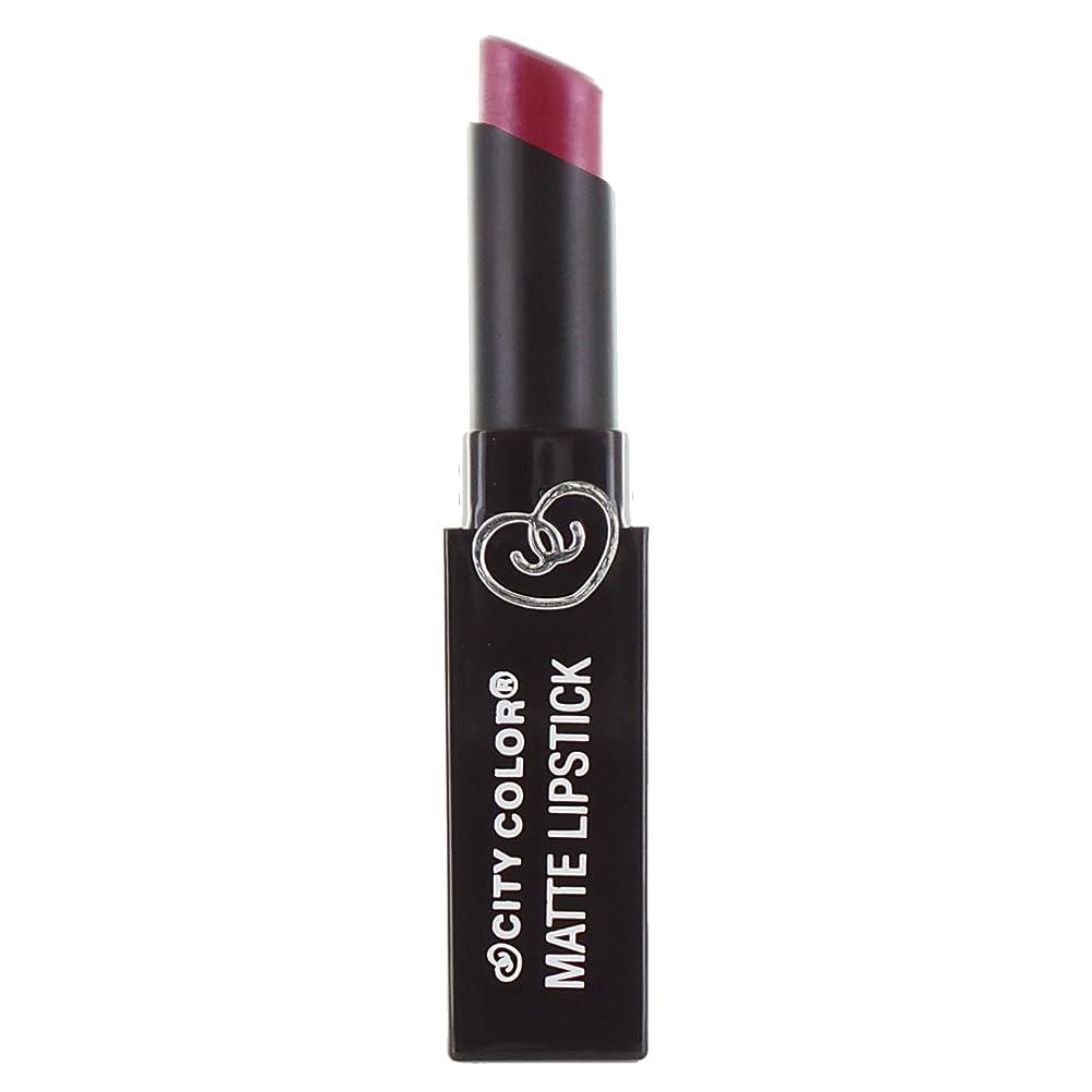 水族館崇拝する胆嚢(6 Pack) CITY COLOR Matte Lipstick L0050 - Shimmer Rose (並行輸入品)