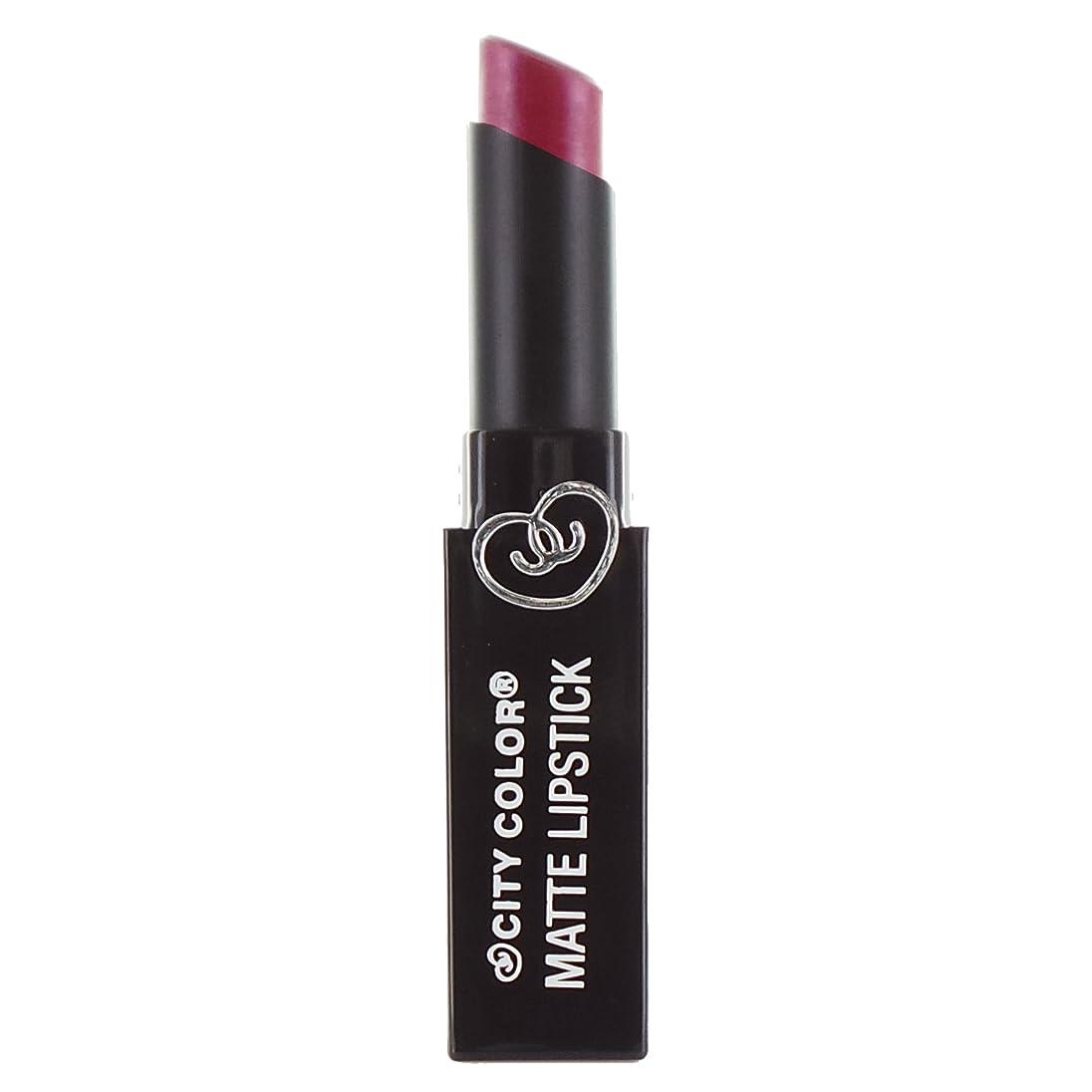広範囲にマングル致死(6 Pack) CITY COLOR Matte Lipstick L0050 - Shimmer Rose (並行輸入品)