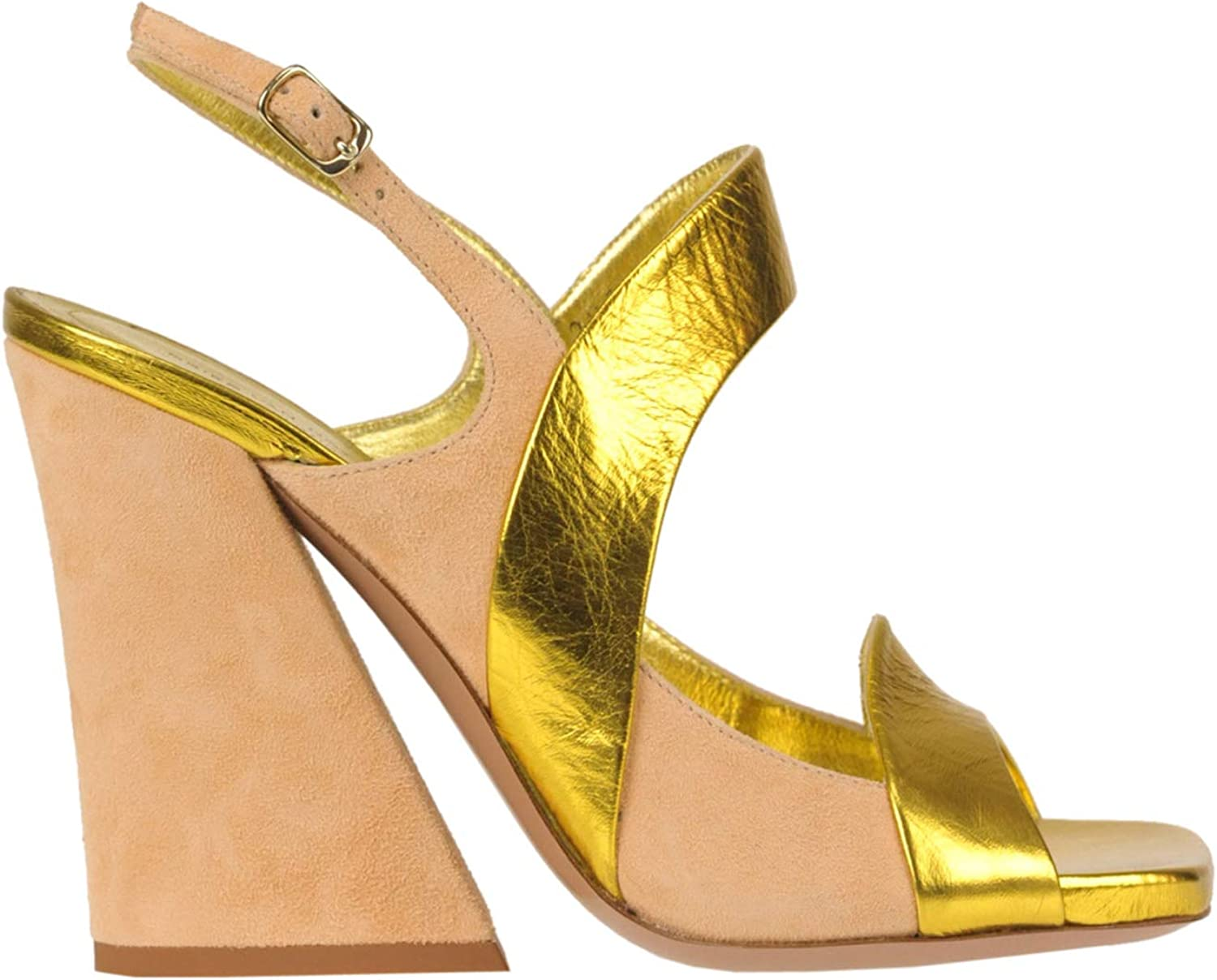 Dries van Noten Leather and Suede Sandals Woman