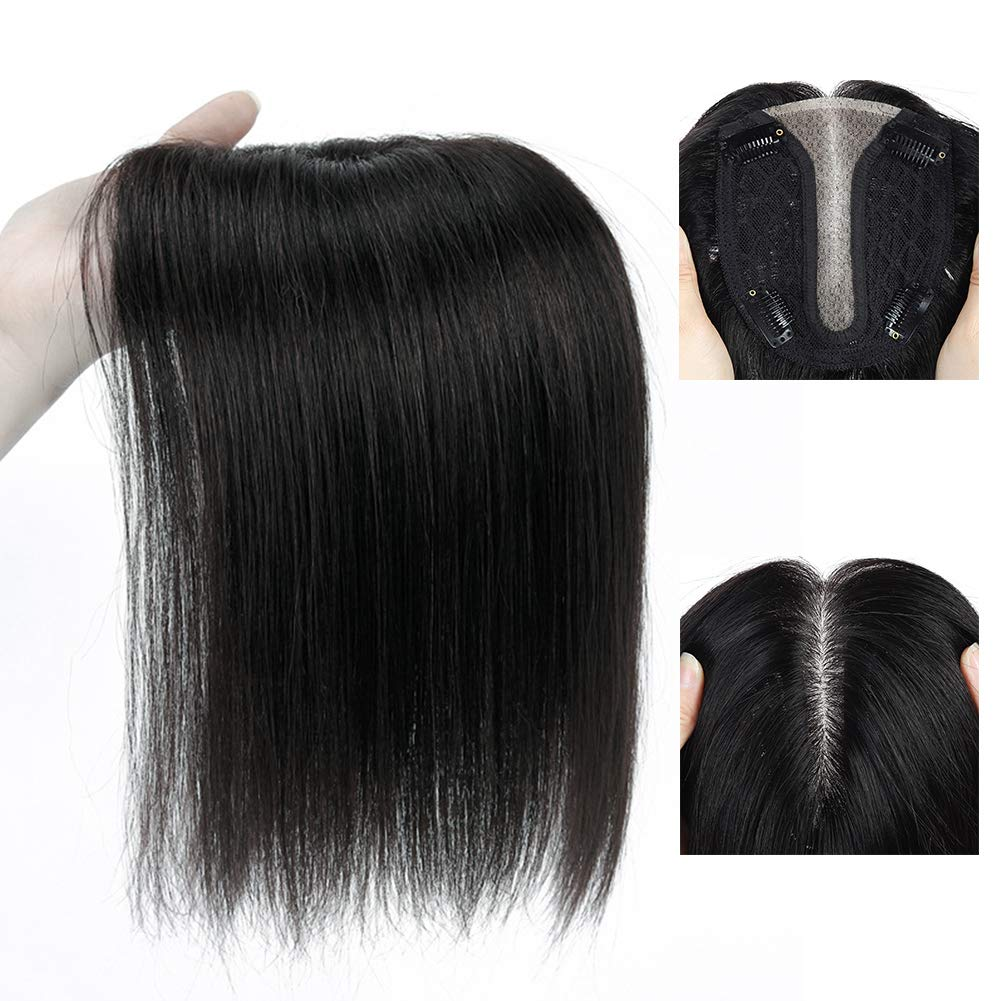 Straight Human Hair Direct sale of manufacturer T Silk Top Clip Hairpiece Topper Wom Mesa Mall in