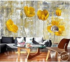 Papel pintado 3D pared moderno Flor amarilla Fondos de pantalla Murales Sala de estar Dormitorio Arte de la pared Decoraci...
