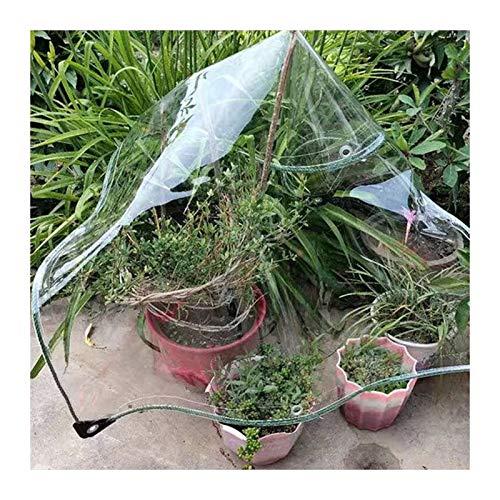 ALGFree Lona PVC Tarea Pesada Claro Cubierta Impermeable por Cámping Pescar Jardinería a Prueba De Polvo Impermeable Lona Alquitranada Anti-envejecimiento Aislamiento PE Lona Cubrir