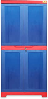 National Planet Power Medium Plastic Storage Cabinet,Red & Blue