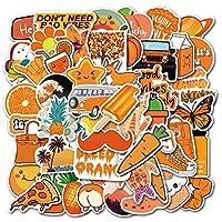 おもちゃ 50ピース/セット暖かいオレンジVSCOステッカーピザフルーツPegatinaのノートパソコンスケートボードスーツケース女の子防水デカールステッカー (Color : 50 vsco Orange)