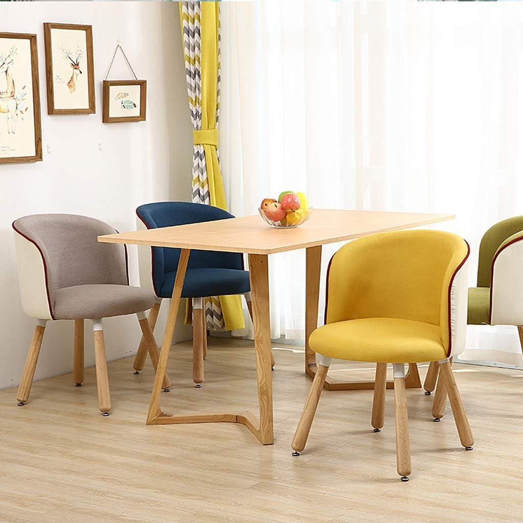 Chaise WGZ de Salle, de Bureau Simple, créative Dossier, Loisirs, Maison Adulte de Salle Simple (Color : Brown) Yellow