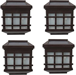 Solar Outdoor Wall Light LED(4PCS) Super Bright Chinese Style Waterproof IP65 Outdoor Porch