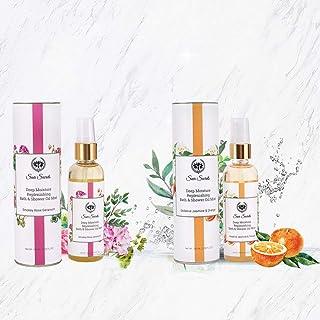 Seer Secrets Squeaky Clean Combo Luxurious Refreshing Bath Combo Pack (Smokey Rose Geranium 100ml + Sedative Jasmine & Ora...