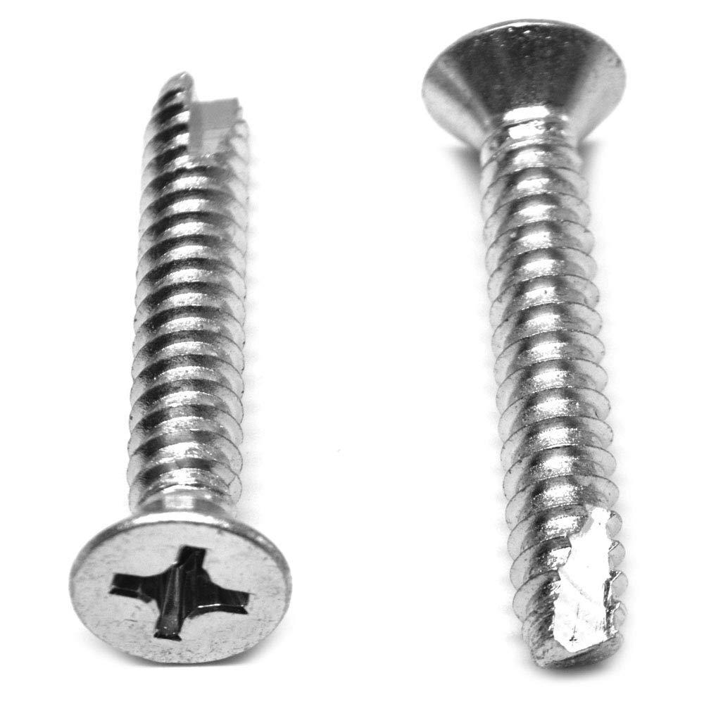 #8-18 x 1 2 Thread Cutting El Paso Mall Screw Flat Type 25 New item Head Phillips Low