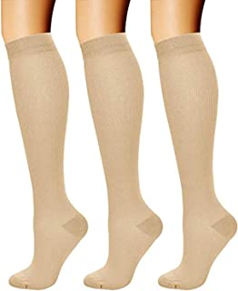 Gnpolo Graduated Compression Socks Men Women 3 Pairs Nurse Pregnancy Sport Medical Travel