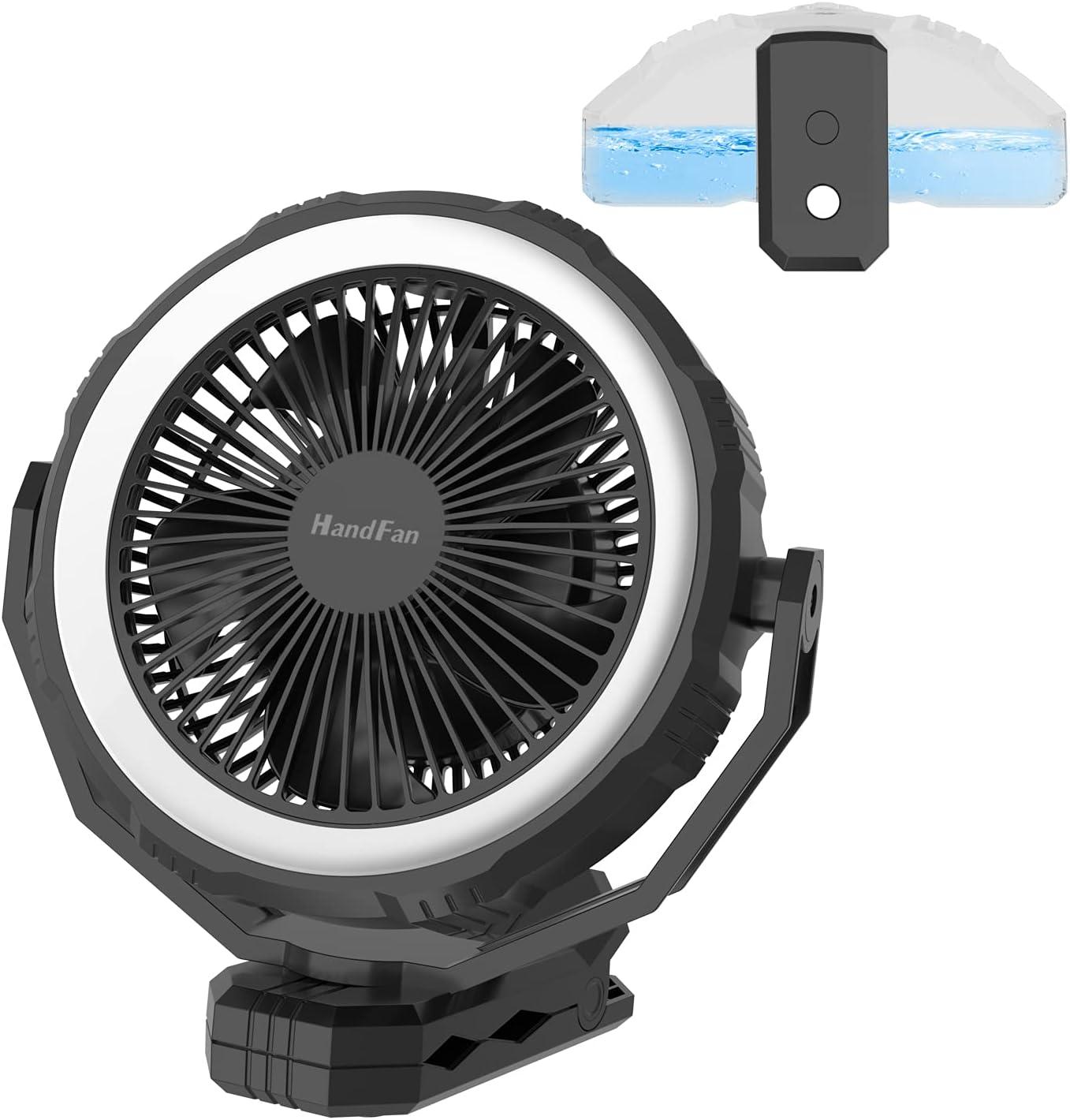 10000mAh Portable Sales Misting Fan 8-Inch on Reinforced Translated Clip Des