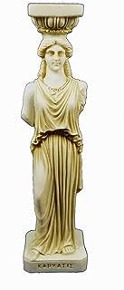 Estia Creations Caryatid Sculpture karyatides Ancient Greek Aged Statue