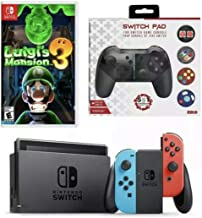 $599 » Sponsored Ad - Nintendo Switch Luigi's Mansion Game & Switch Pad Bundle: Nintendo Switch 32GB Console with Neon Red and Bl...