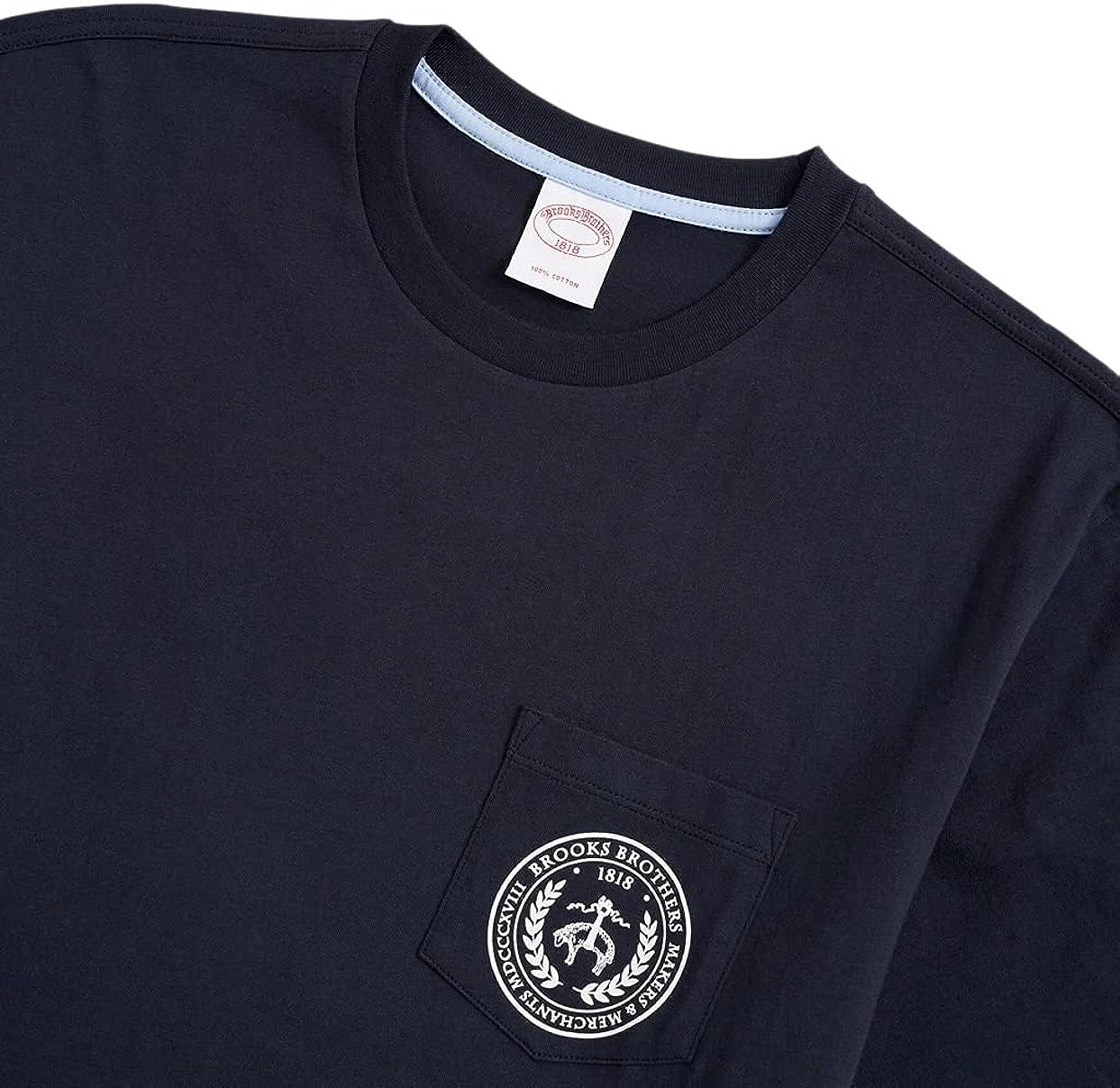 Brooks Brothers Men's Makers Merchants Crest Graphic Pocket Short Sleeve Tee T-Shirt