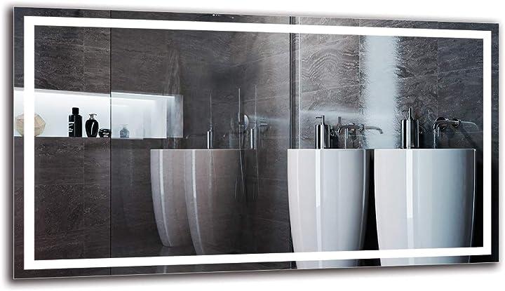 Specchio da parete grande - decorazioni casa. specchio led  - varie dimensioni arttor B07F71WK79