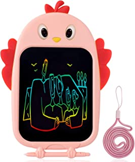 Bagpipe Gifts Toys for Age 3 4 5 6 Year Old Girls and Boys, LCD Writing Tablet 8.5 Inch Colorful Doodle Board Drawing Tablet,Pink